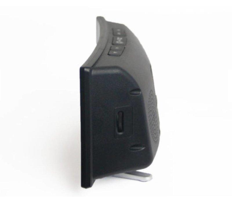 Geemarc wekker Wake 'n Shake Curve met LED flitslamp, trilkussen en USB poort