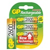 GP GP AA 2600mAh rechargeable (HR6) - 1 collis (4 piles)