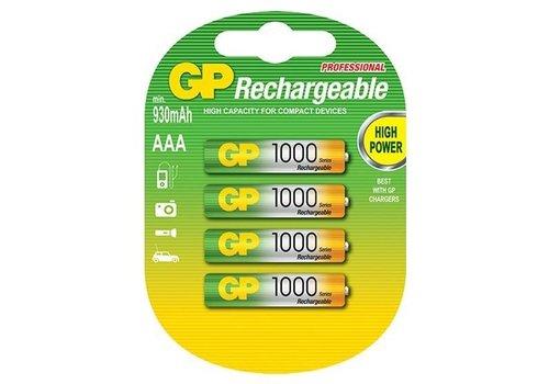 GP GP AAA 1000mAh rechargeable (HR03) - 1 pakje (4 batterijen)