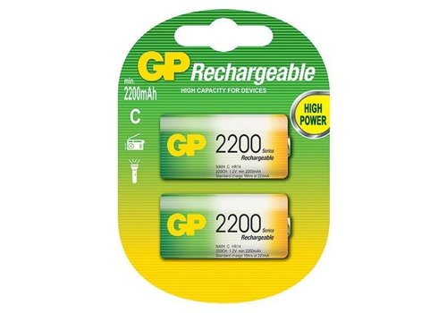 GP GP C 2200mAh rechargeable (HR14) - 1 pack (2 batteries)