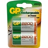 GP GP D 2200mAh rechargeable (HR20) - 1 pack (2 batteries)