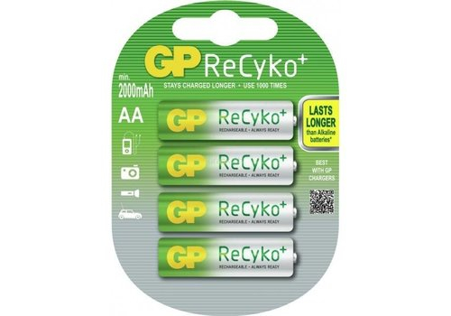 GP GP AA 2000mAh ReCyko+ (rechargeable) (HR6) - 1 collis (4 piles)