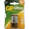 GP GP Alcaline Ultra 9V block (6LR61) Blister 1