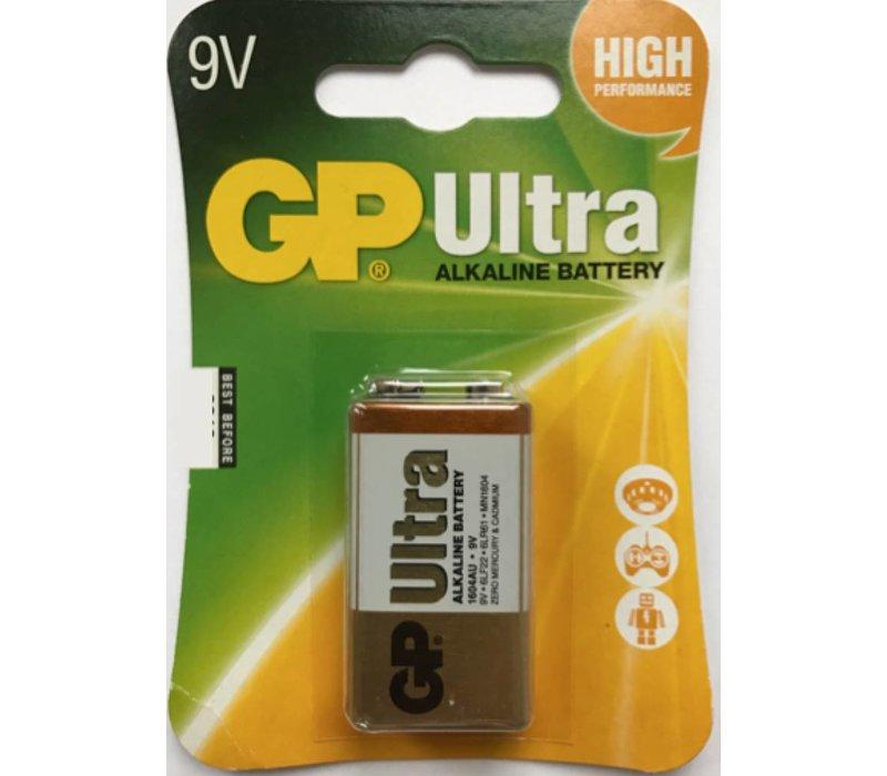 GP Alcaline Ultra 9V block (6LR61) Blister 1