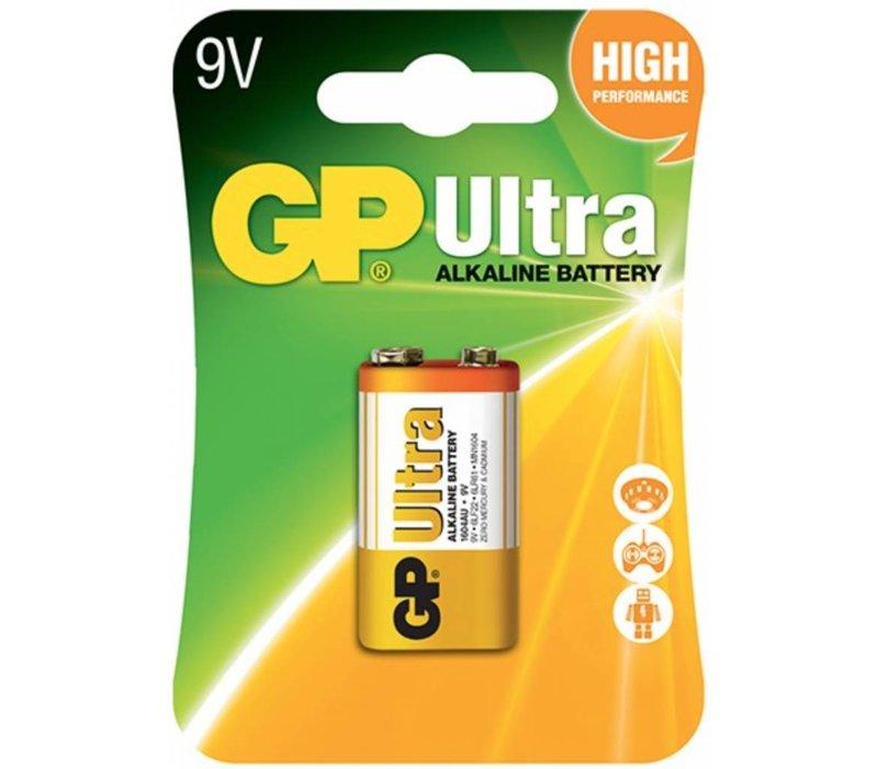 GP Alkaline Ultra 9V block (6LR61) Blister 1