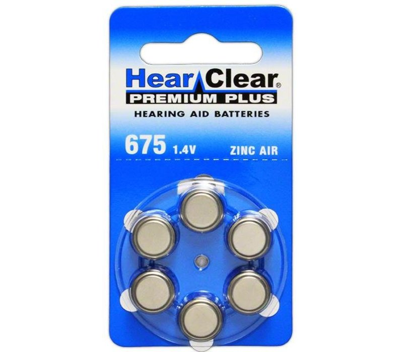 HearClear 675 (PR44) Premium Plus – 10 blisters (60 batteries)