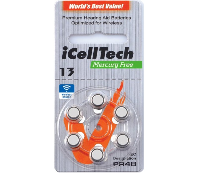iCellTech 13DS (PR48) Platinum – 1 blister (6 batteries)