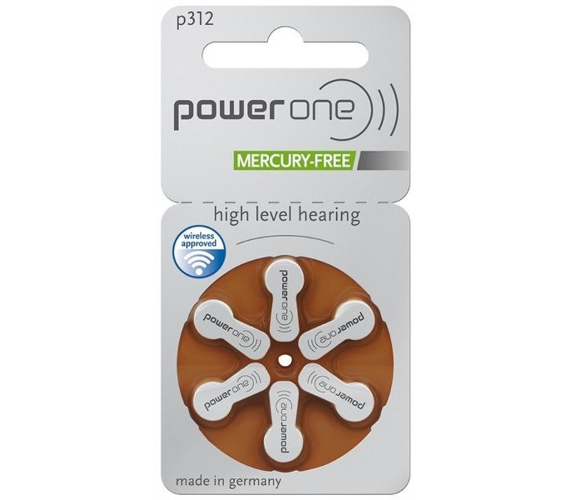 PowerOne p312 (PR41) – 50 packs (300 batteries)