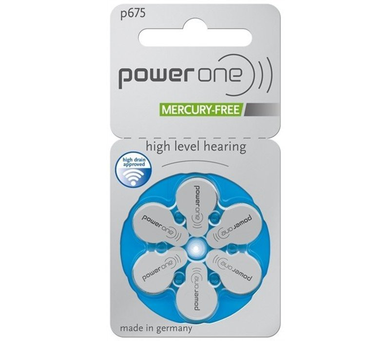 PowerOne p675 – 50 blisters  (300 batteries)