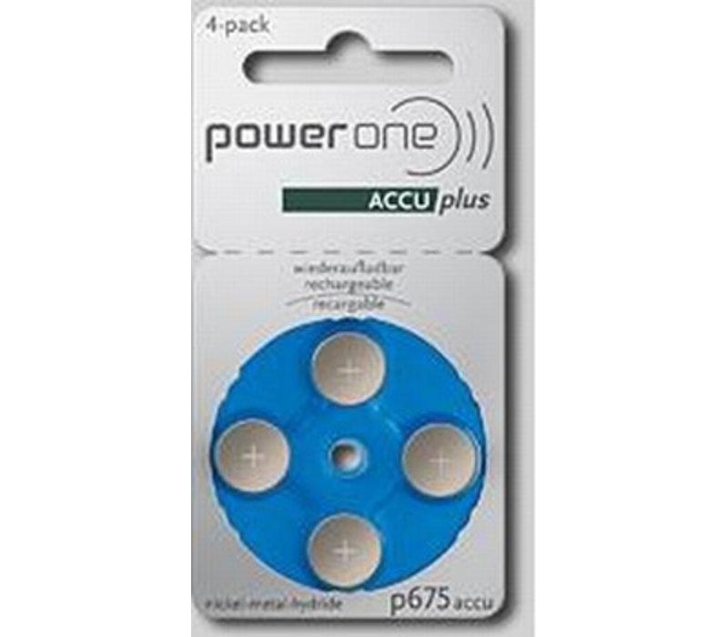 PowerOne p675 ACCUplus - 1 colis (4 piles rechargeables)