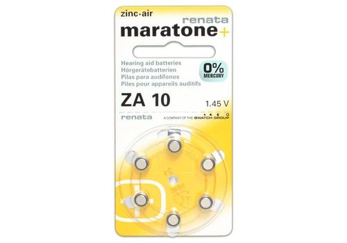 Renata (Swiss) Renata (Maratone+) ZA10 Mercury Free - 10 colis (Qualité Suisse) **SOLDES**