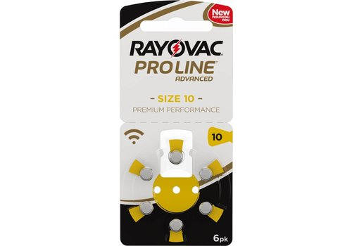 Rayovac Rayovac 10 ProLine Advanced (blister/6)  - 1 pakje