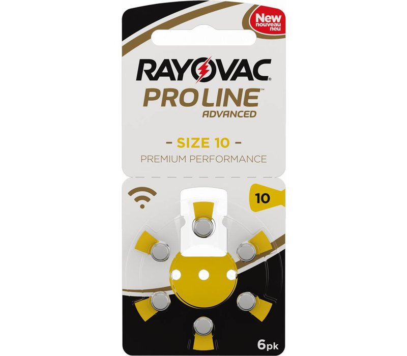 Rayovac 10 (PR70) ProLine Advanced Premium Performance (6 Pack)  - 1 colis (6 piles)