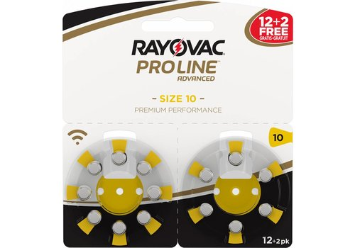 Rayovac Rayovac 10 ProLine Advanced (blister/14) - 1 double blister