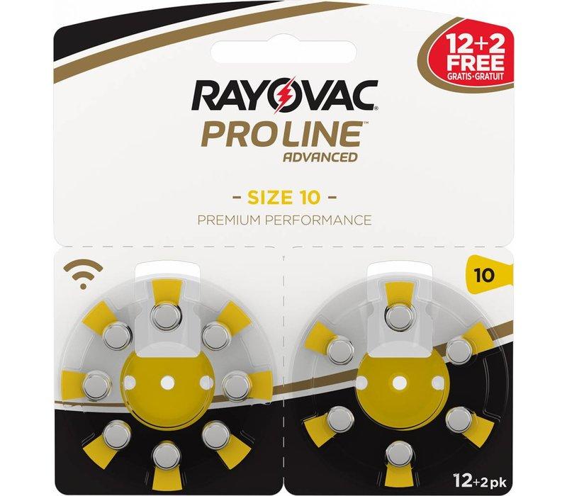 Rayovac 10 (PR70) ProLine Advanced Premium Performance - 10 double blisters (140 batteries) **120+20 FREE**