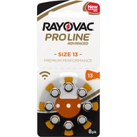 Rayovac 13 (PR48) ProLine Advanced Premium Performance (8 pack) - 10 colis (80 piles)