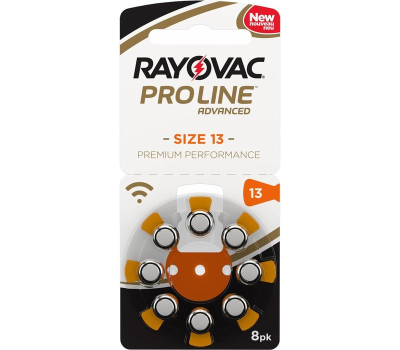 Rayovac 13 (PR48) ProLine Advanced Premium Performance (8 pack) - 20 colis (160 piles)
