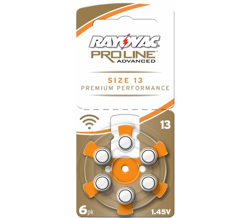 Rayovac 13 (PR48) ProLine Advanced Premium Performance -  1 pakje (6 batterijen)