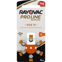 Rayovac 13 (PR48) ProLine Advanced Premium Performance – 20 blisters (120 batteries)