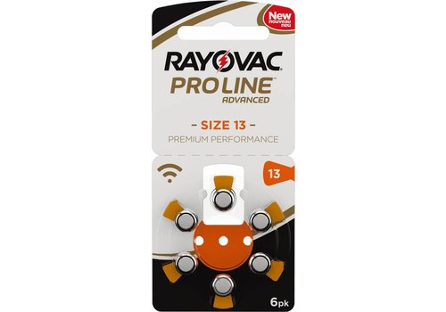 Rayovac Rayovac 13 ProLine Advanced (blister/6) - 100 colis (Paquet en gros)