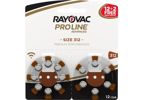 Rayovac Rayovac 312 ProLine Advanced (blister/14) - 1 colis double
