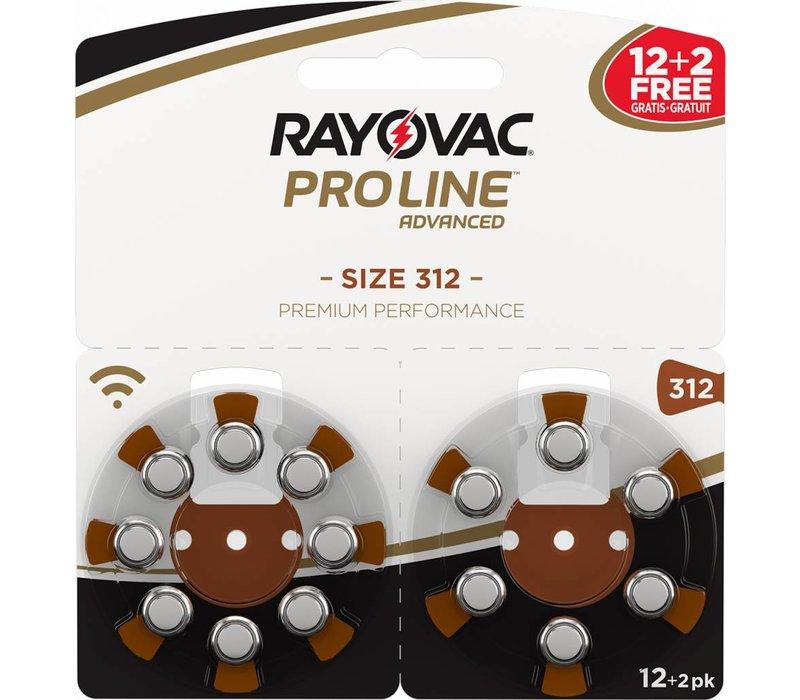 Rayovac 312 (PR41) ProLine Advanced Premium Performance (14 pack)- 5 colis double (70 piles) **60+10 GRATUIT**