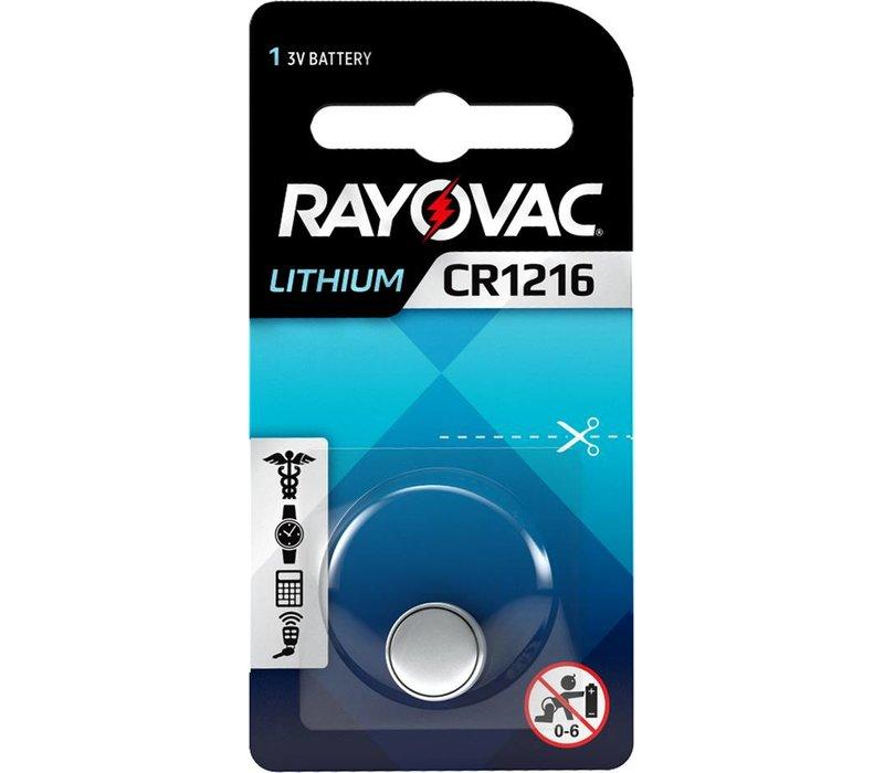 Rayovac Pile bouton Lithium CR1216 3V Blister 1 - 1 collis