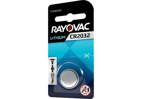 Rayovac Rayovac Pile bouton Lithium CR2032 3V Blister 1 - 1 collis