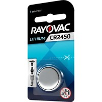 Rayovac Pile bouton Lithium CR2450 3V Blister 1 - 1 collis