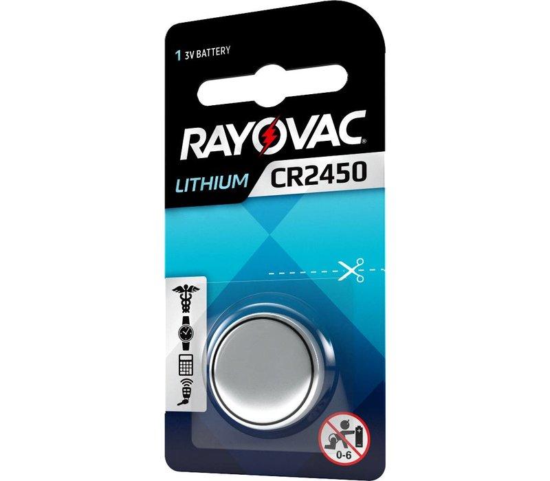 Rayovac Pile bouton Lithium CR2450 3V Blister 1 - 1 collis