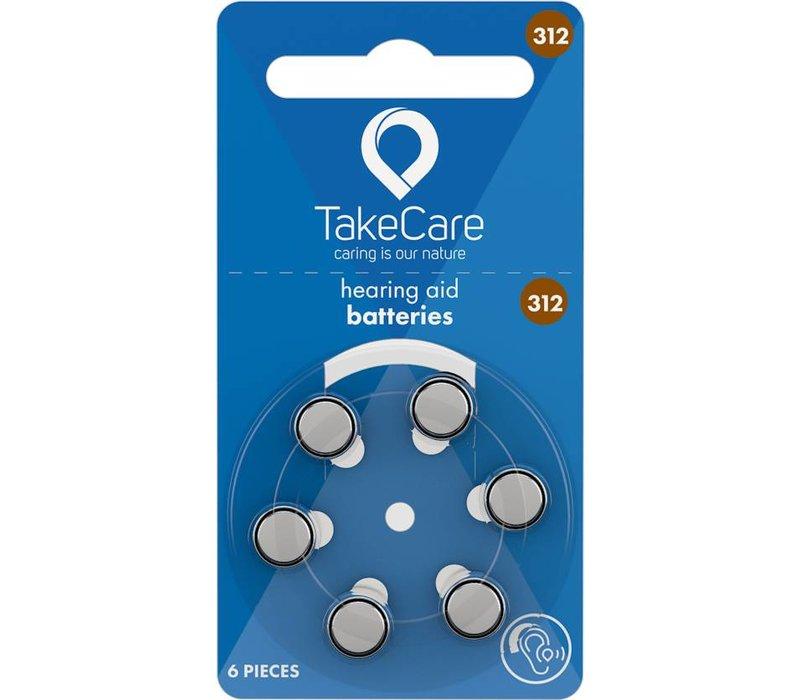 Take Care 312 (PR41) – 1 blister (6 batteries) **BUDGET**