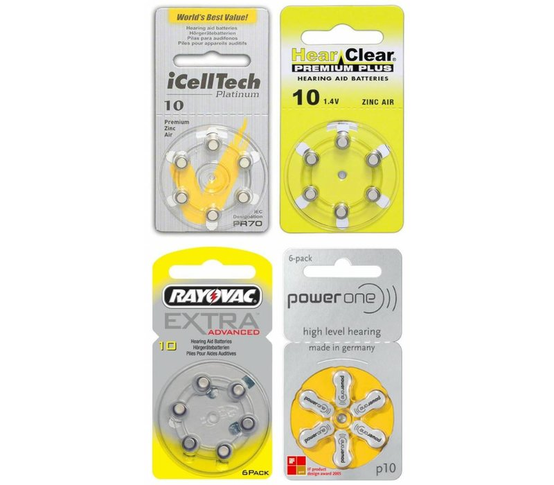 10 yellow Sample Pack – 4 packs featuring various brands