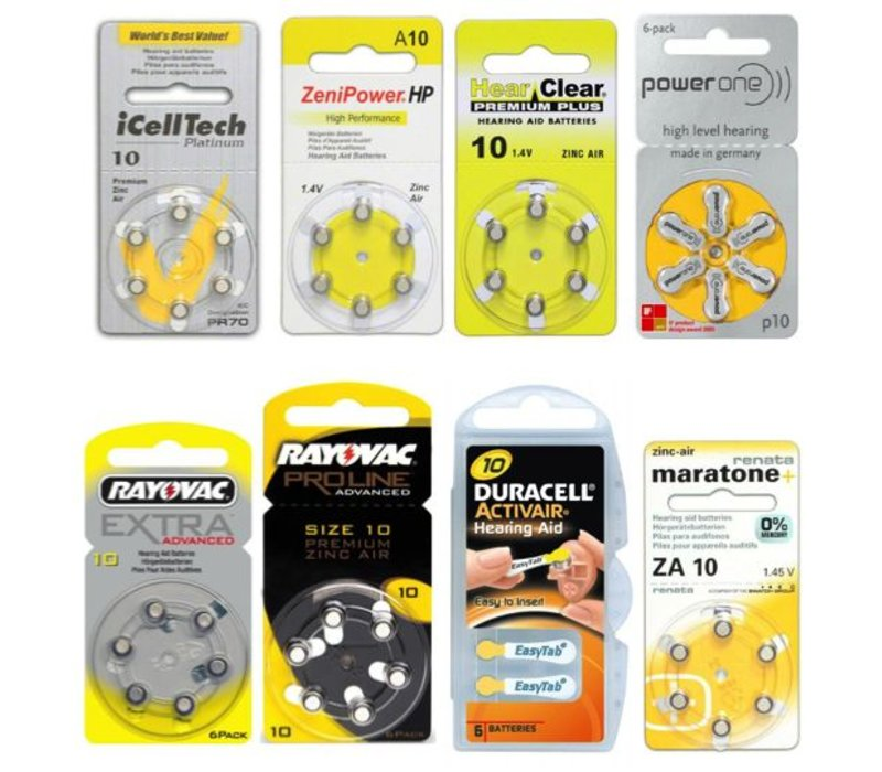 10 yellow Sample Pack – 8 packs featuring various brands