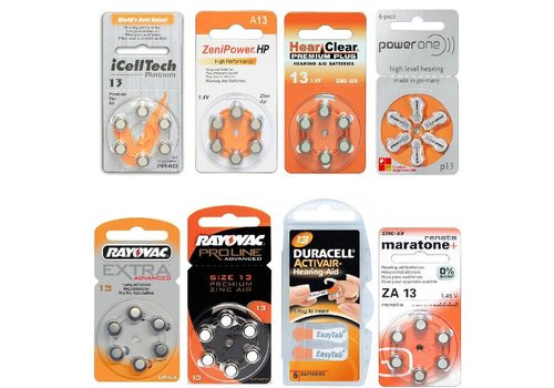 13 orange Sample Pack – 8 packs featuring various brands