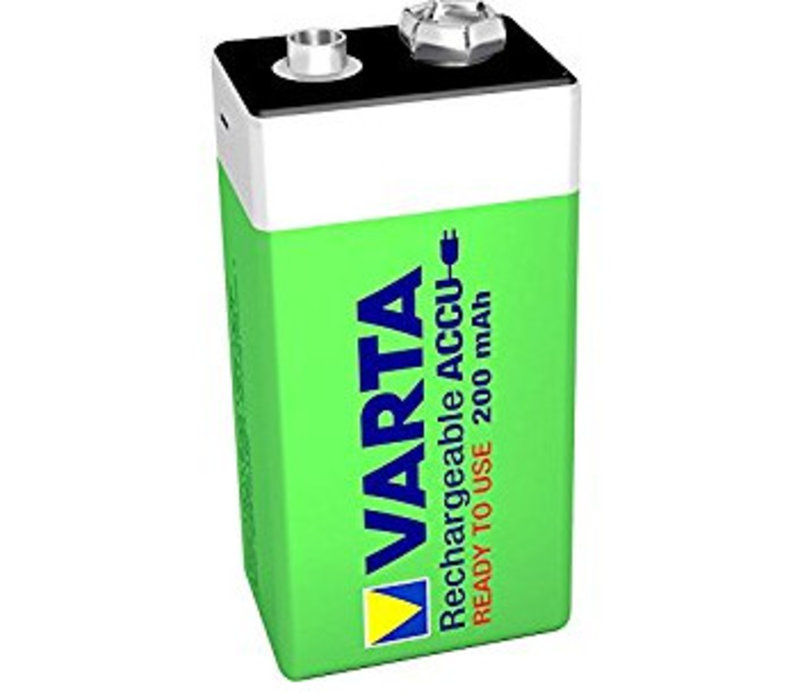 Varta 9V 200mAh rechargeable accu - 1 pakje (1 batterij)