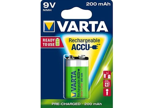 Varta Varta 9V 200mAh rechargeable accu - 1 pakje (1 batterij)