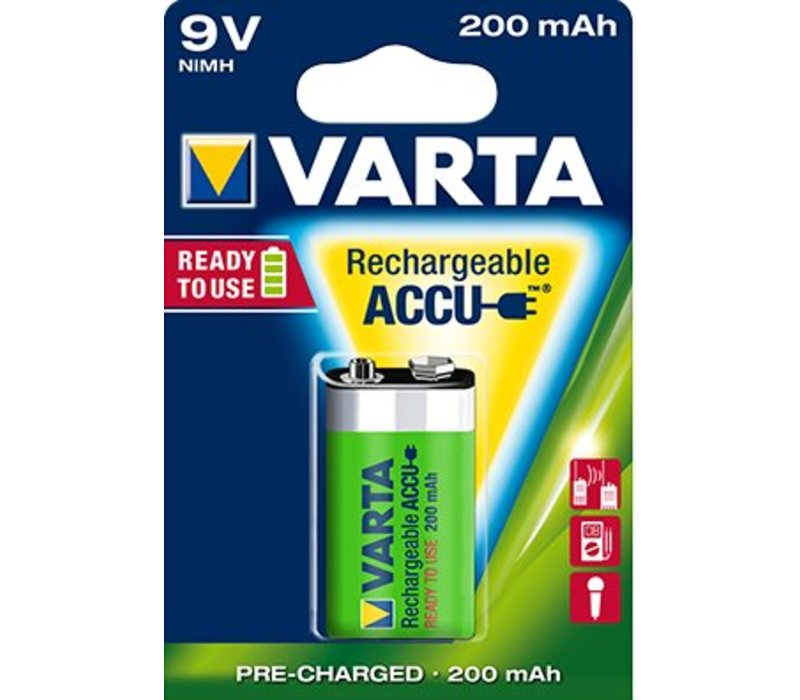 Varta 9V 200mAh rechargeable accu - 1 pack (1 battery)