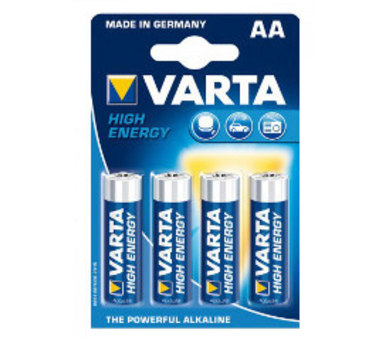 Varta Alkaline High Energy AA LR61 4906 1.5v 2900 mAh - 1 pack 4 batteries