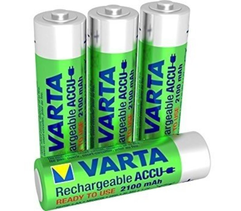 Varta AA 2100mAh rechargeable (HR6) - 1 pack (4 batteries)