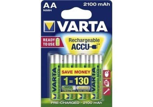Varta Varta AA 2100mAh rechargeable (HR6) - 1 pack (4 batteries)