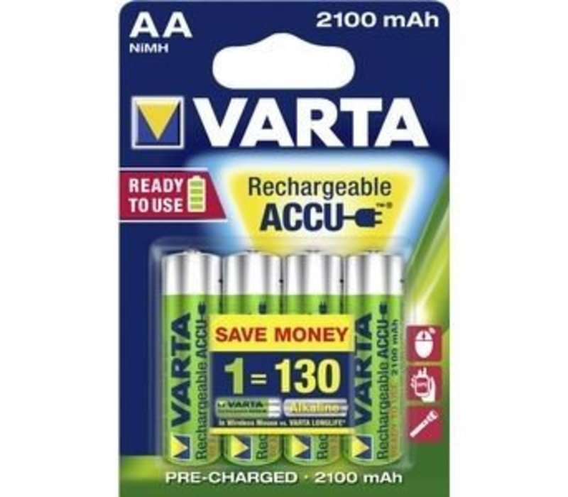 Varta AA 2100mAh rechargeable (HR6) - 1 collis (4 piles)