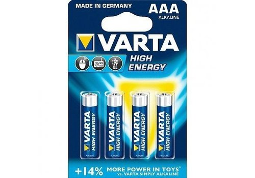 Varta Varta Alkaline High Energy AAA LR03 4903 1.5v 1220 mAh - 1 pack 4 batteries
