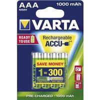 Varta AAA 1000mAh rechargeable (HR03) - 1 pakje (4 batterijen)