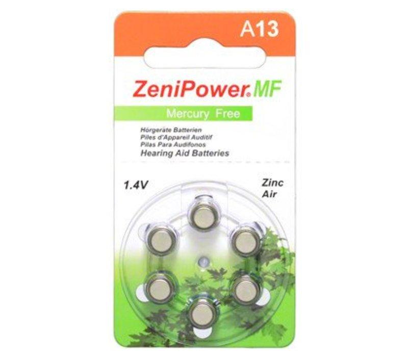 ZeniPower A13 - 20 pakjes (120 batterijen)