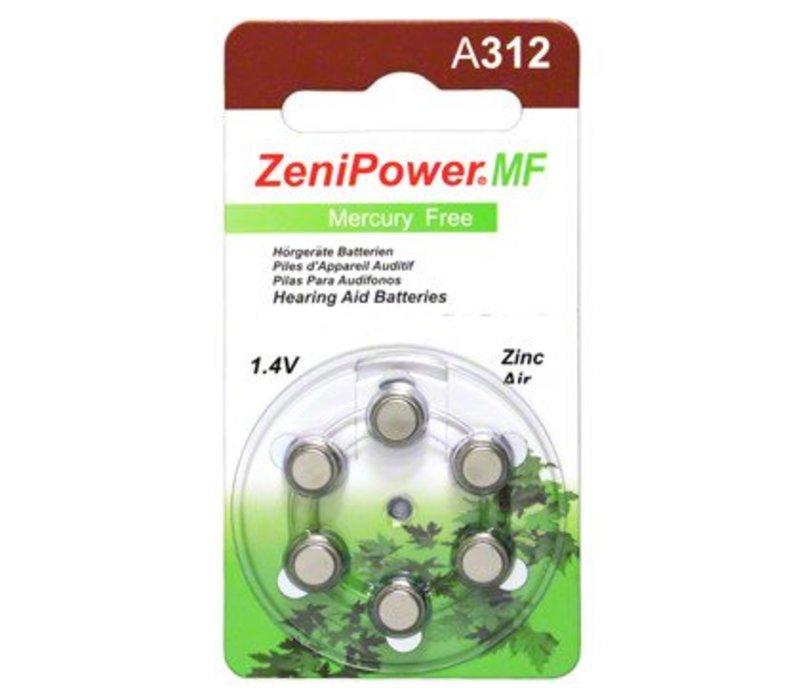 ZeniPower A312 - 1 colis (6 piles)
