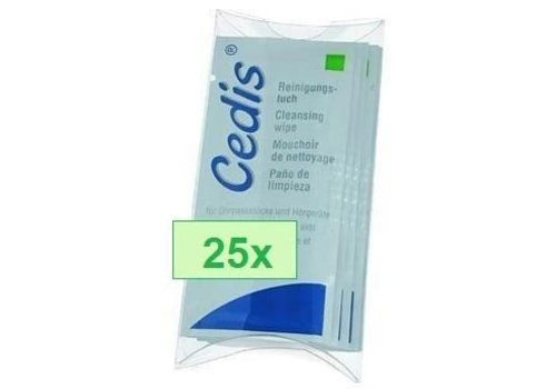 Cedis Cedis cleansing wipes 25x (set individually wrapped wipes)