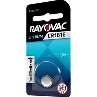 Rayovac Pile bouton Lithium CR1616 3V Blister 1 - 1 collis