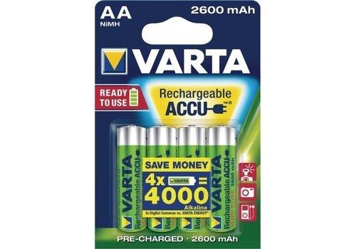 Varta Varta AA 2600mAh rechargeable (HR6) - 1 collis (4 piles)