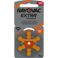 Rayovac 13 (PR48) Extra Advanced – 15 packs +3 packs free (90+18 = 108 batteries)