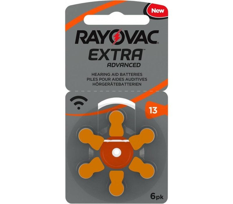 Rayovac 13 (PR48) Extra Advanced - 15 colis +3 colis gratuit (90+18 = 108 piles)